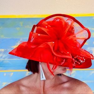 Ravenous Red Vintage 100% Wool Elegant Derby Hat